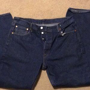 Levi Men's 501 36x34 jeans like new